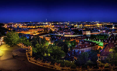 Photograph - Prague At Night by M G Whittingham