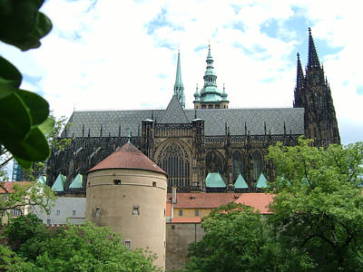 Prague Castle Back View Original by Ladislav Kovac