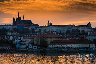 Prague Castle Digital Art - Prague Castle Evening View by Gary Rieks