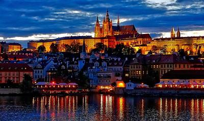 Prague Castle In The Evening Art Print