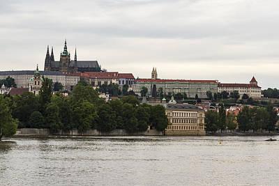 Photograph - Prague Castle On The Vltava by Josef Pittner