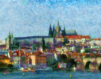 Prague Digital Art Digital Art - Prague Castle by Peter Kupcik