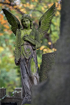 Photograph - Prague Cemetery Angel by Stuart Litoff