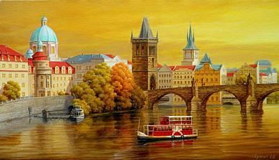 Prague Charles Bridge Art Print