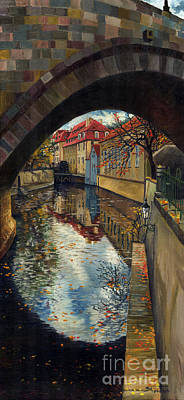 Old Town Painting - Prague Chertovka 3 by Yuriy  Shevchuk