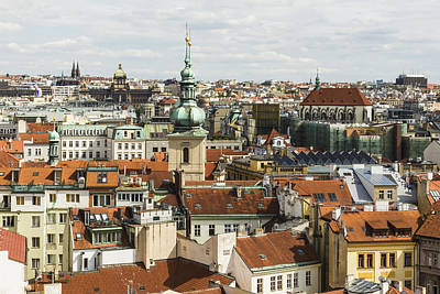 Photograph - Prague City Scape by Josef Pittner