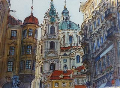 Czech Republic Painting - Prague II  by Henrieta Maneva