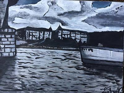 Vltava River Painting - Prague by Ludovit Gonda