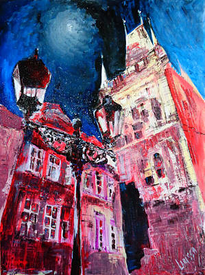 Painting - Prague Night by Larissa Pirogovski