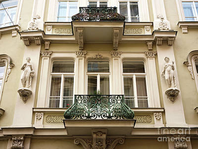Prague Old Town Square Balcony Style Art Print by John Rizzuto