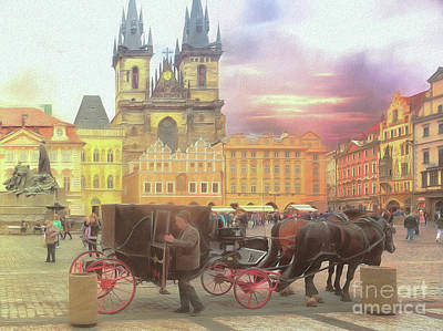 Photograph - Prague Old Town Square by Leigh Kemp