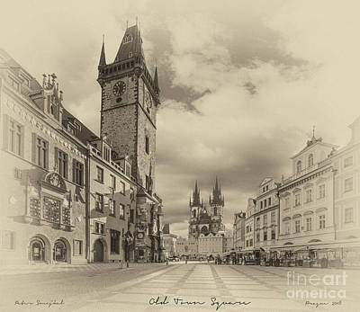 Praha Painting - Prague Old Town Square by Prague ArtPrints