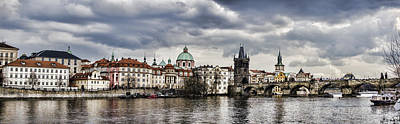 Karluv Most Photograph - Prague Panorama by Heather Applegate