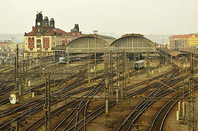 Photograph - Prague Railroad Station by Marek Stepan