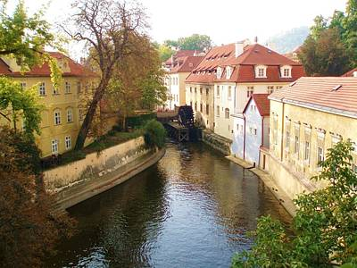 Photograph - Prague River Scene by LeAnne Sowa