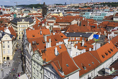 Photograph - Prague Roof Top Scape by Josef Pittner