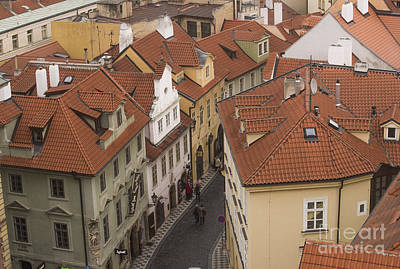 Prague Rooftops Print by Juli Scalzi