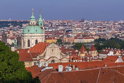 Photograph - Prague Skyline by Josef Pittner