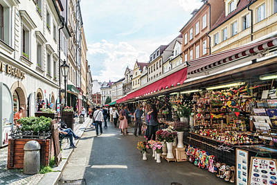 Photograph - Prague Street Market by Sharon Popek