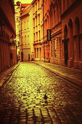 Photograph - Prague Streets 3. Series Golden Prague by Jenny Rainbow