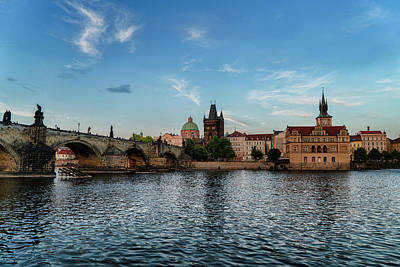 Photograph - Prague Sunset by Sharon Popek
