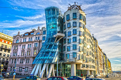 Photograph - Prague - The Dancing House by Luciano Mortula
