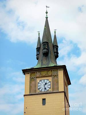 Photograph - Prague Water Tower by Ann Horn