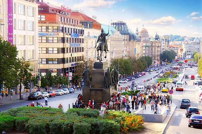 Prague Wenceslas Square Original by Evgeny Ivanov