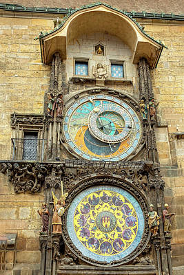 Photograph - Prague's Astrological Clock by Kay Brewer