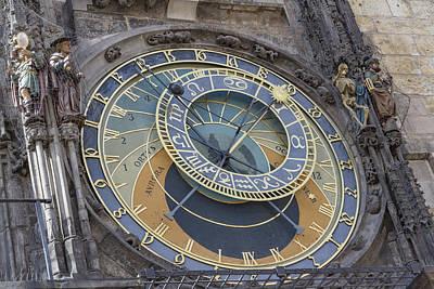 Photograph - Prague's Astronomical Clock by Josef Pittner