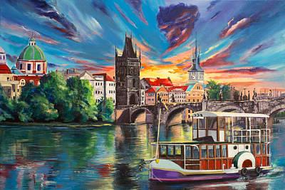 Vltava River Painting - Prague's Fairytales by Svetlana Tikhonova