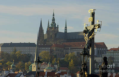 Praha, Charles Bridge Art Print