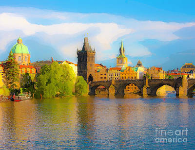 Photograph - Praha - Prague - Illusions by Tom Cameron