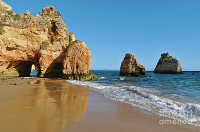 Photograph - Praia Dos Tres Irmaos Scene In Algarve, Portugal by Angelo DeVal