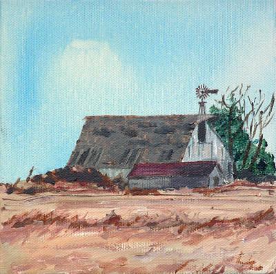 Painting - Prairie Barn by Kevin Callahan