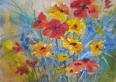 Painting - Prairie Blooms by Laurie Salmela