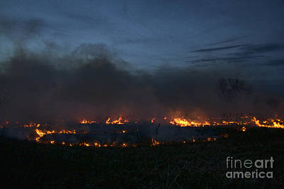 Photograph - Prairie Burn by Crystal Nederman