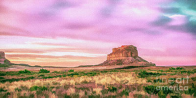 Digital Art - Prairie Butte by Walter Colvin