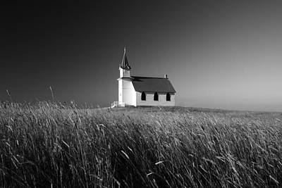 Small Towns Photograph - Prairie Chapel by Todd Klassy