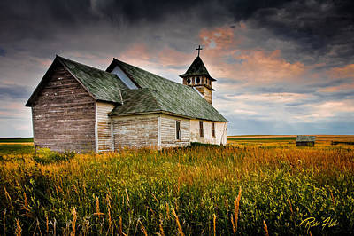 Photograph - Prairie Church by Rikk Flohr