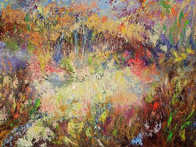 Pallet Knife Mixed Media - Prairie Dance by Rose Fisher