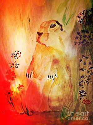 Painting - Prairie Dog by Maria Urso