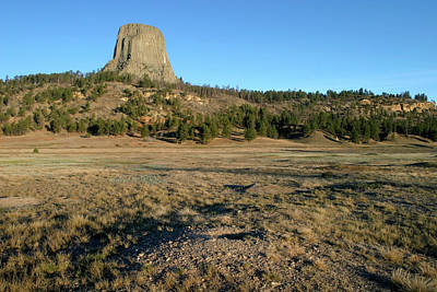 Photograph - Prairie Dog Town And Devil's Tower Nm, Wyoming by Robert Mutch