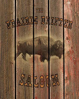 Prairie Drifter Saloon Art Print by TL Mair