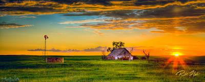 Photograph - Prairie Farm Sunset by Rikk Flohr