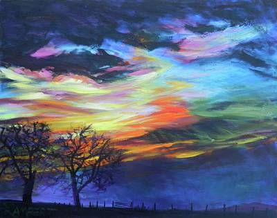 Painting - Prairie Fireworks 1 by Bonnie Lambert