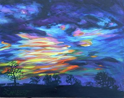 Painting - Prairie Fireworks 3 by Bonnie Lambert