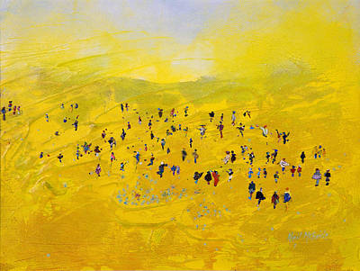 Painted Painting - Prairie Gathering by Neil McBride