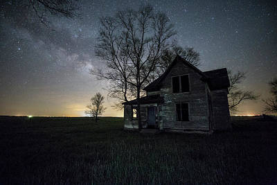 Photograph - Prairie Gold And Milky Way by Aaron J Groen