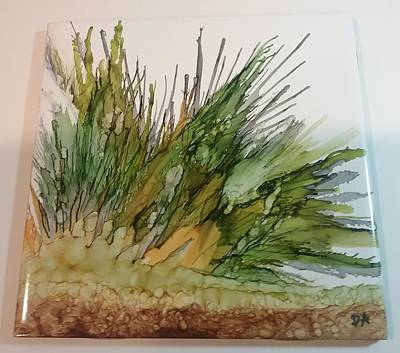 Ceramic Mixed Media - Prairie Grass by Debbie Antaya